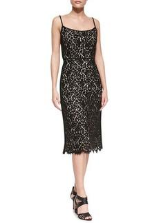 Michael Kors Sleeveless Floral Lace Dress, Black