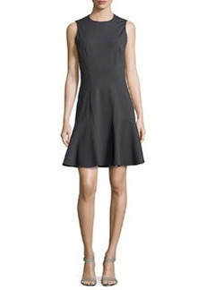 Michael Kors Sleeveless Flounce Dress, Graphite