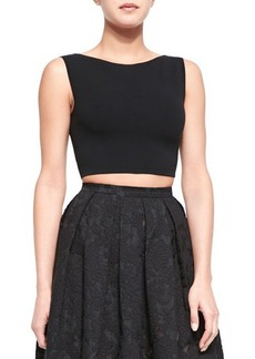 Michael Kors Sleeveless Knit Crop Top