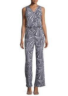 Michael Kors Sleeveless Printed Jumpsuit