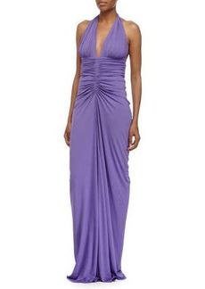 Michael Kors Sleeveless Ruched Gown, Hyacinth