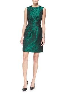 Michael Kors Sleeveless Shantung Pleated-Skirt Dress