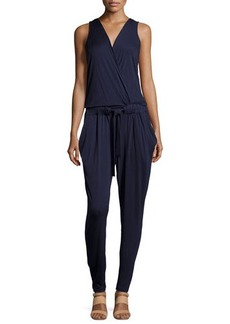 Michael Kors Sleeveless Surplice-Front Jumpsuit