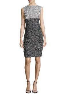 Michael Kors Sleeveless Tweed Sheath Dress