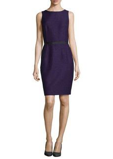 Michael Kors Sleeveless Twill Jacquard Sheath Dress