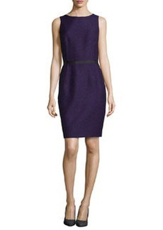 Michael Kors Sleeveless Twill Jacquard Sheath Dress