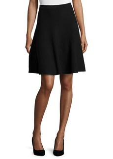 Michael Kors Slight-Ruffle A-Line Skirt, Black