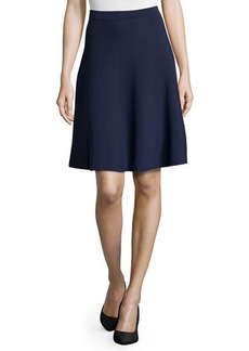 Michael Kors Slight-Ruffle A-Line Skirt, Indigo