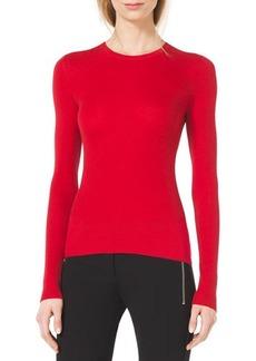 Michael Kors Slim Cashmere Crewneck Sweater