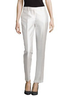 Michael Kors Slim Shantung Pants, White