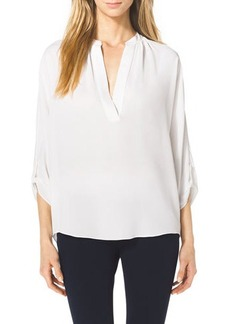Michael Kors Slit-Front Silk Blouse