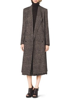 Michael Kors Smudged Plaid Overcoat