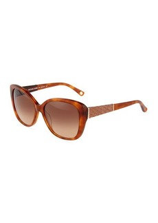 Michael Kors Snake-Print Mila Cat-Eye Sunglasses