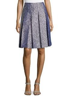 Michael Kors Spotted & Pleated Skirt