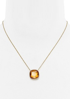 "Michael Kors Stone Pendant Necklace, 16"""
