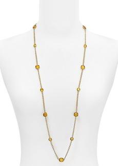 "Michael Kors Stone Station Necklace, 40"""