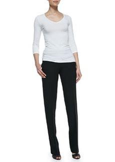 Michael Kors Straight-Leg Trousers, Black