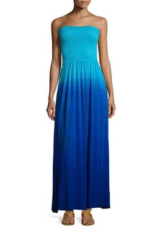 Michael Kors Strapless Ombre Maxi Dress