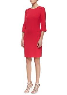 Michael Kors Stretch Boucle Button Dress, Azalea