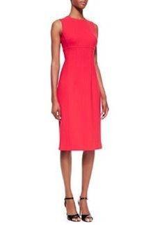 Michael Kors Stretch Boucle Crepe Sleeveless Sheath Dress, Coral