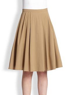 Michael Kors Stretch Cotton Poplin Dance Skirt