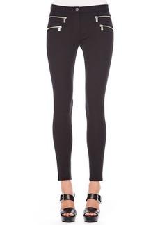 Michael Kors Stretch-Cotton Skinny Pants, Black