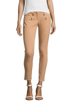 Michael Kors Stretch-Cotton Skinny Pants, Suntan