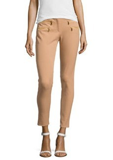 Michael Kors Stretch-Cotton Skinny Pants, Suntan