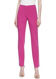 Michael Kors Stretch Crepe Slim Pants, Peony