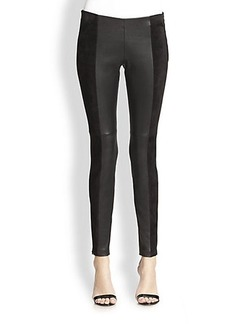 Michael Kors Stretch Leather & Suede Leggings
