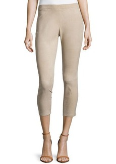 Michael Kors Stretch Suede Leggings, Sand