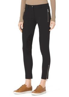Michael Kors Stretch-Twill Zipper Riding Pants
