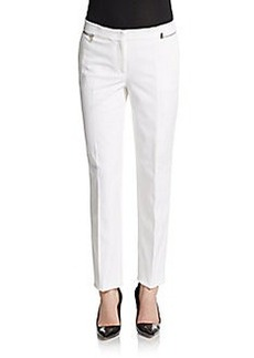 Michael Kors Stretch-Twill Zipper-Trim Pants