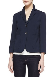 Michael Kors Stretch Wool Boy Cardigan Jacket