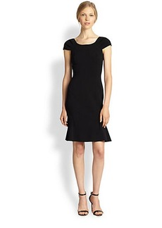 Michael Kors Stretch Wool Cap-Sleeve Dress