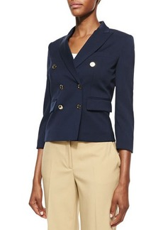 Michael Kors Stretch-Wool Double-Breasted Jacket