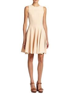 Michael Kors Stretch Wool Flared Dress