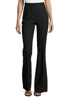 Michael Kors Stretch-Wool Flared Trousers, Black