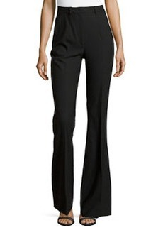 Michael Kors Stretch-Wool Flared Trousers, Black