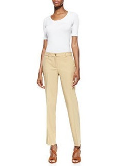 Michael Kors Stretch Wool Skinny Pants, Beige