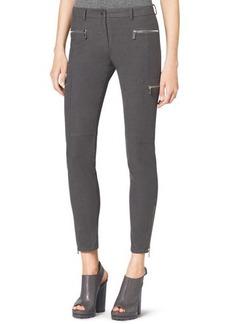 Michael Kors Stretch Zipper Skinny Pants