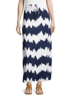 MICHAEL Michael Kors Striped Drawstring Maxi Skirt