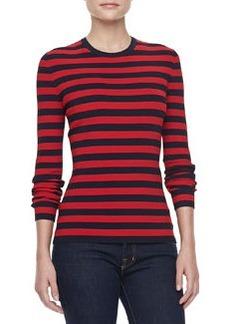 Michael Kors Striped Long-Sleeve Pullover