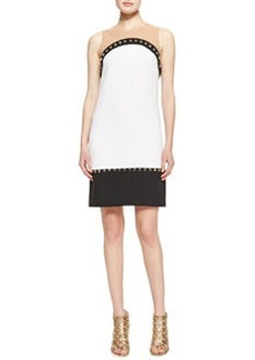 Michael Kors Studded Colorblock Knit Dress