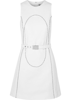 Michael Kors Studded cotton-piqué dress