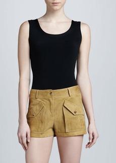 Michael Kors Suede Cargo Short Shorts