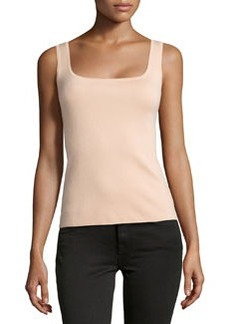 Michael Kors Super Cashmere Square Shell Top, Nude