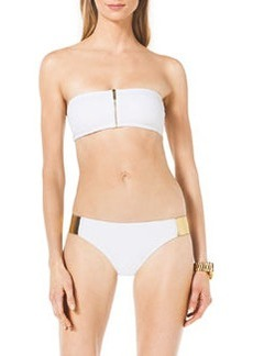 Michael Kors Swimwear Bandeau Bikini with Hardware