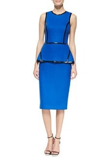 Michael Kors Taped Peplum Sheath Dress