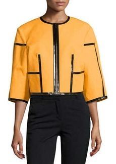 Michael Kors Taped Zip-Front Jacket, Taxi Cab